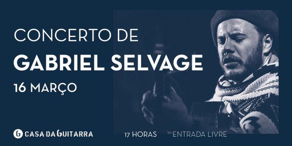 Gabriel Selvage apresenta o seu concerto a solo que passeia entre música instrumental, poemas e canções da sua autoria ou de compositores consagrados que já foram gravadas nos seus discos e dvds e também um pouco das coisas novas que tem vindo a produzir. Da raiz ao contemporâneo o concerto garante momentos de emoção e virtuosismo.
