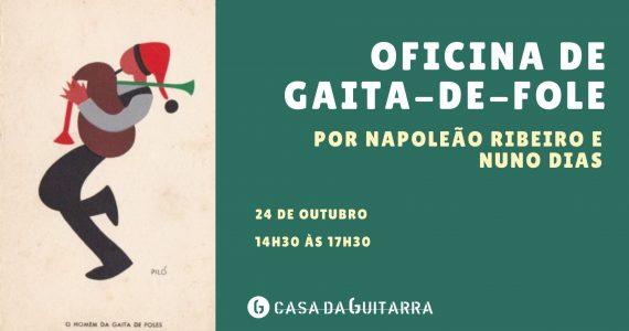Oficina orientada por Napoleão Ribeiro e Nuno Dias, da Escola de Música Tradicional da Ponte Velha. A proposta passa pela abordagem da história da gaita-de-fole em Portugal, através de uma breve apresentação da iconografia do instrumento, suas tipologias e técnicas de execução existentes nos contextos portugueses.