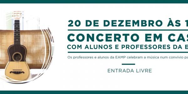 Escola das Artes Musicais Portuguesas Concerto de cavaquinho guitarra portuguesa bandolim ukulele guitarra clássica Viola Braguesa acordeão Casa da Guitarra Porto